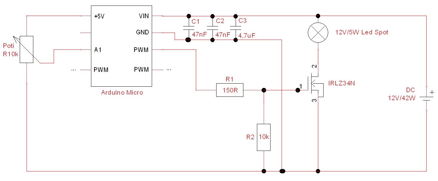 LED PWM Dimmer flackern/flimmern nur an bestimmten Pins
